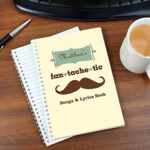 Personalised Fan Tache Tic A5 Notebook