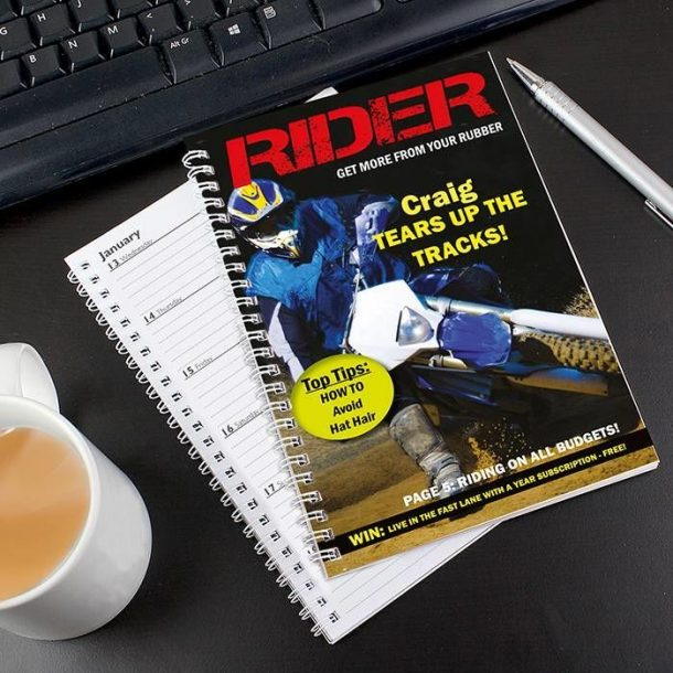 Personalised Rider A5 Diary