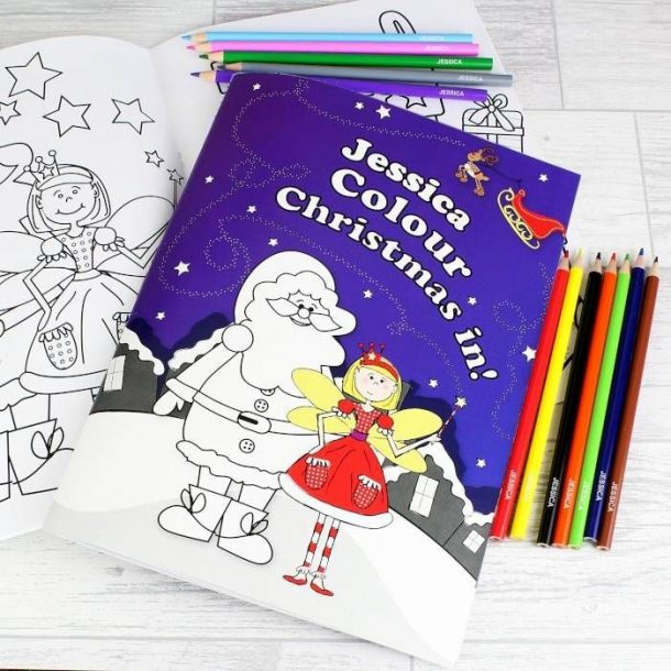 Personalised Fairy Colouring Book & Pencil Crayons