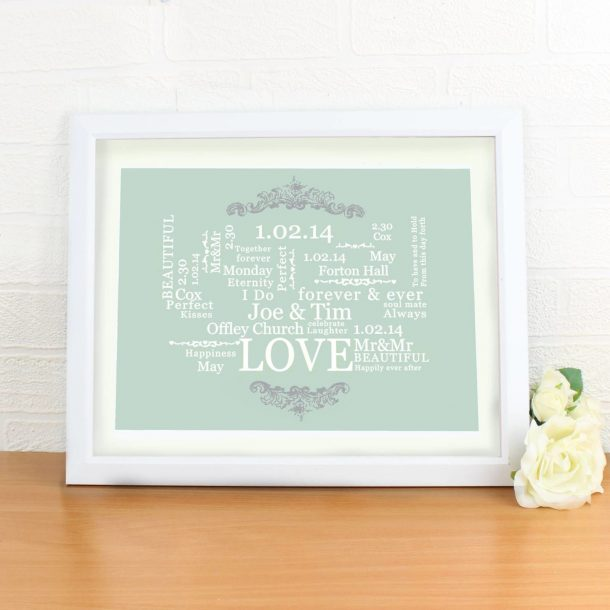 Personalised Wedding Typographic Print