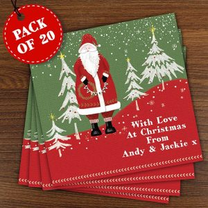 Personalised Pack of 20 Father Christmas Cards
