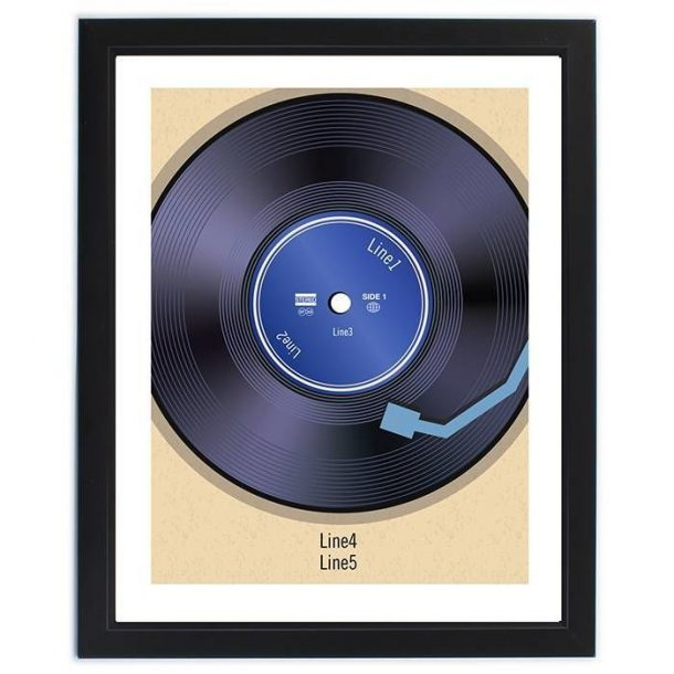 Personalised Retro Vinyl Poster Frame