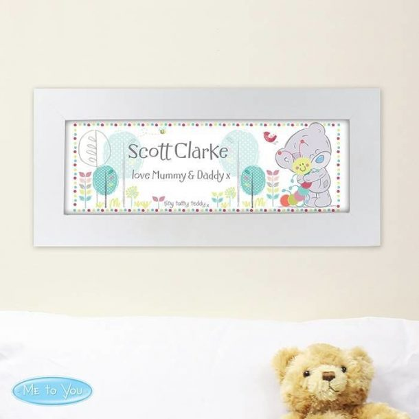 Personalised Tatty Teddy Name Frame