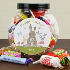 Personalised Easter Bunny Sweets Jar