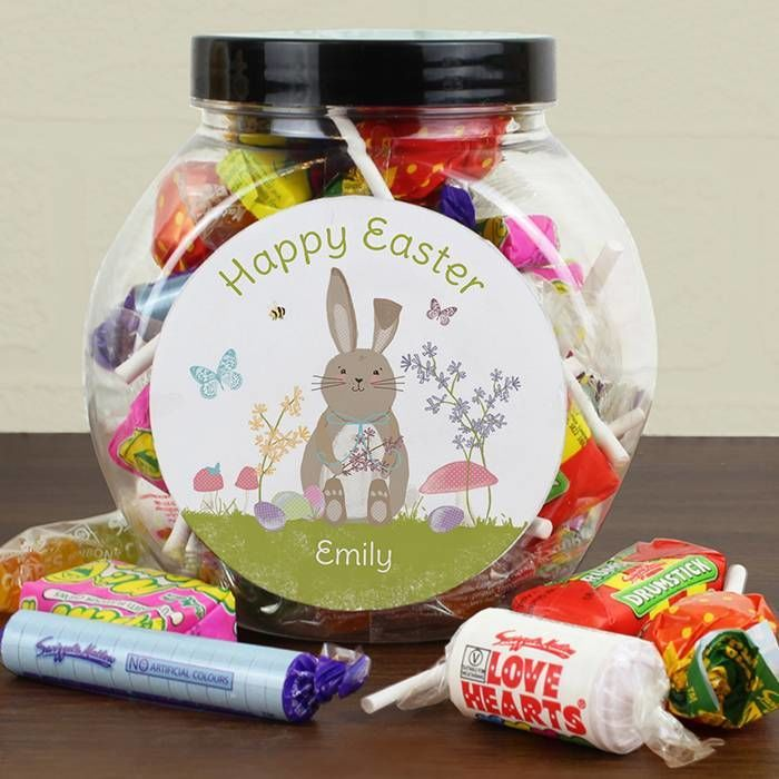 Personalised easter bunny sweets jar love my gifts personalised easter bunny sweets jar negle Images