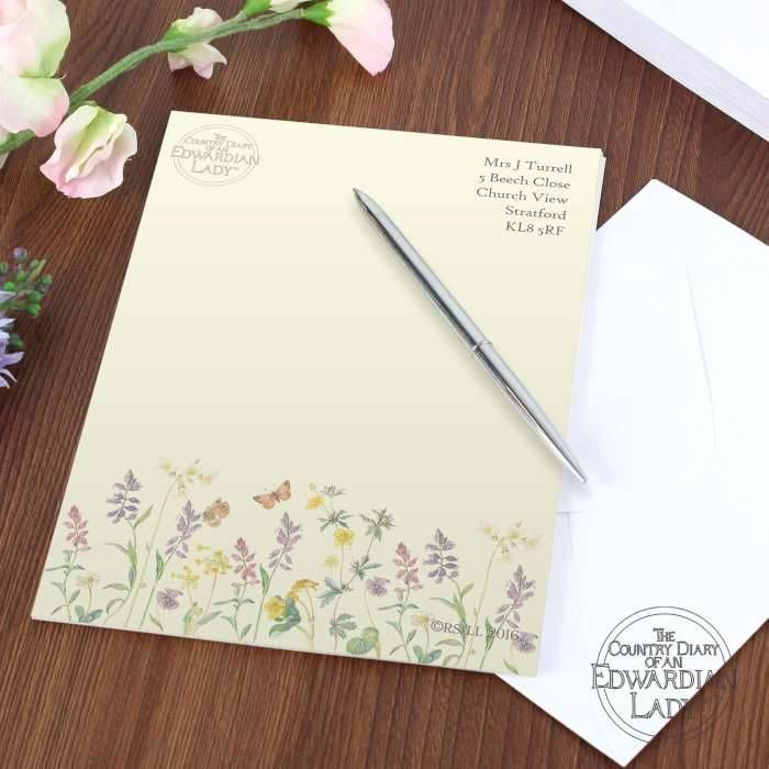 Wedding Gift For Someone Who Has Everything Uk : Home / Personalised / Gifts / Personalised Flowers Stationery Set