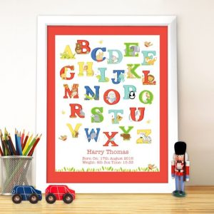 Personalised Animal Alphabet Poster Frame