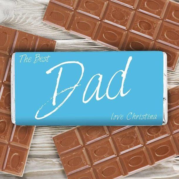 Personalised Best Dad Chocolate Bar