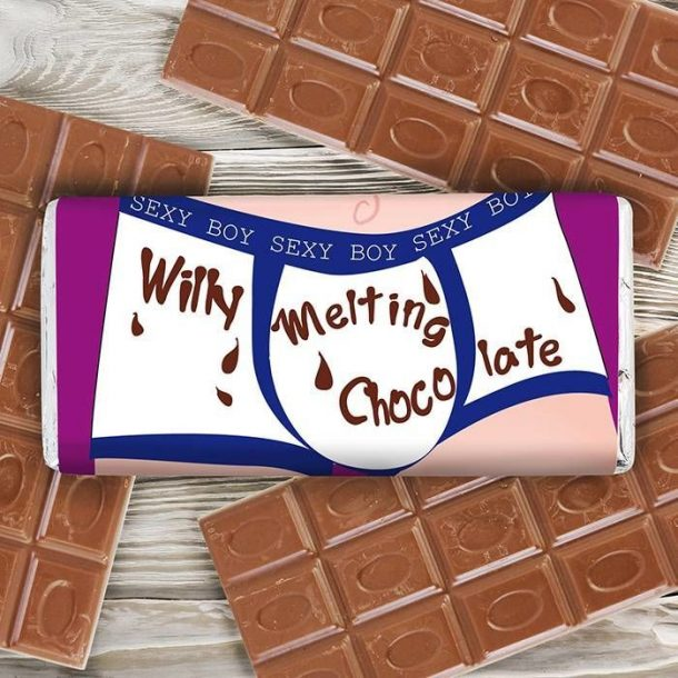 Personalised Willy Melting Chocolate