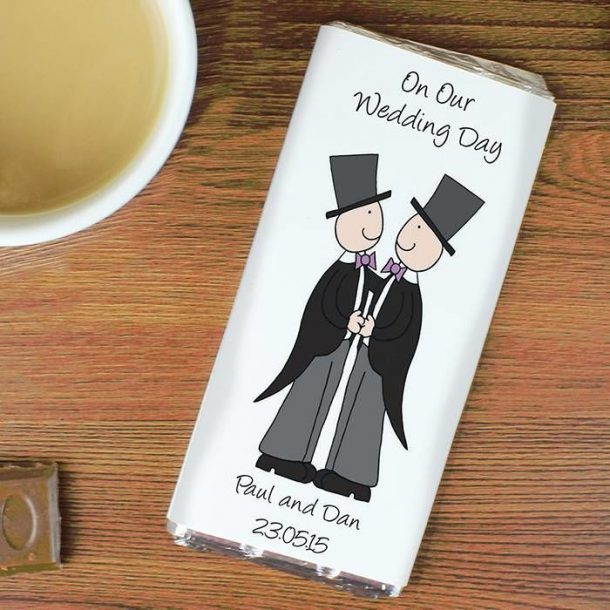 Personalised Male Civil Chocolate Bar