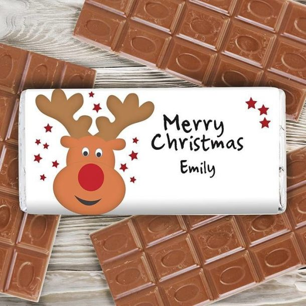 Personalised Rudolph Chocolate Bar