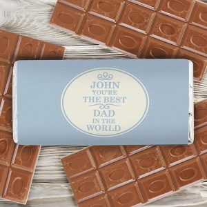 Personalised The Best in the World Chocolate Bar
