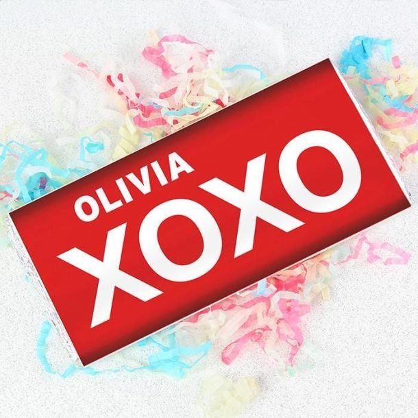 Personalised XOXO Chocolate Bar
