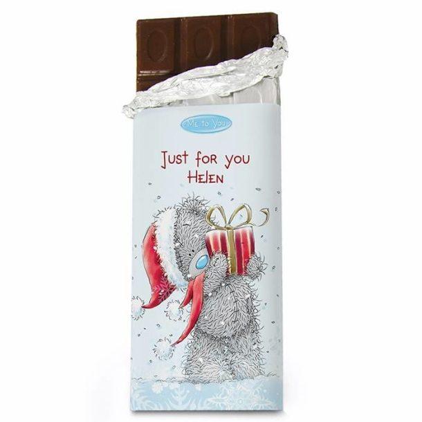 Personalised Me To You Christmas Chocolate Bar