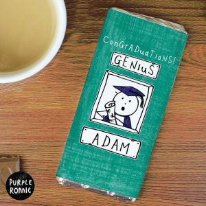 Personalised Graduation Chocolate Bar
