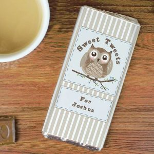 Personalised Woodland Owl Chocolate Bar