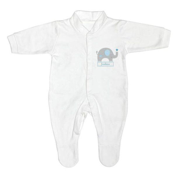 Personalised Blue Baby Elephant Gift Set