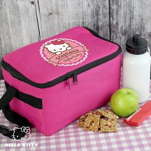 Personalised Hello Kitty Floral Lunch Bag