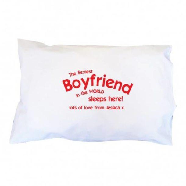 Personalised Sexiest Boyfriend Pillowcase