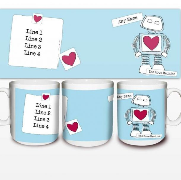Personalised Love Machine Mug