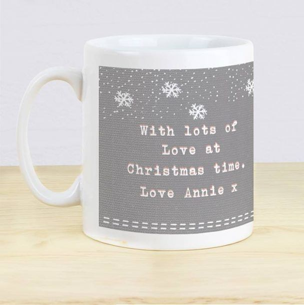 Personalised Woodland Owl Christmas Mug