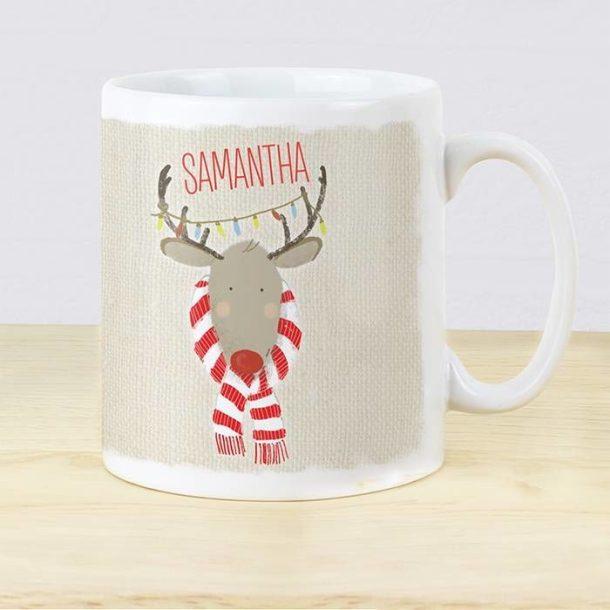 Personalised Retro Reindeer Mug