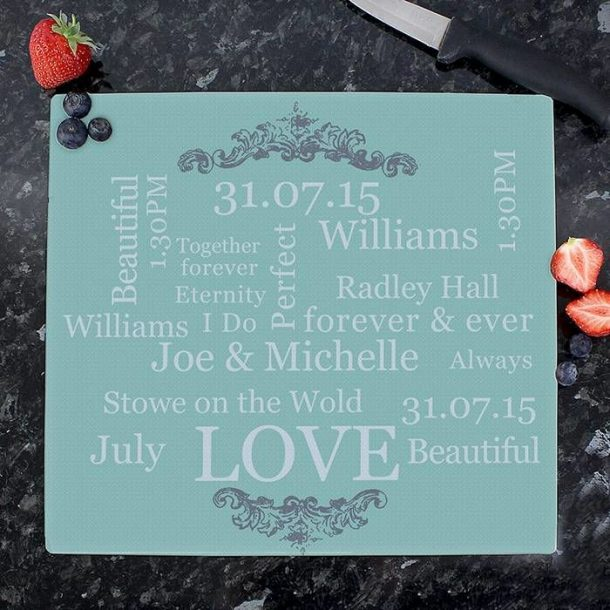 Personalised Typography Chopping Board