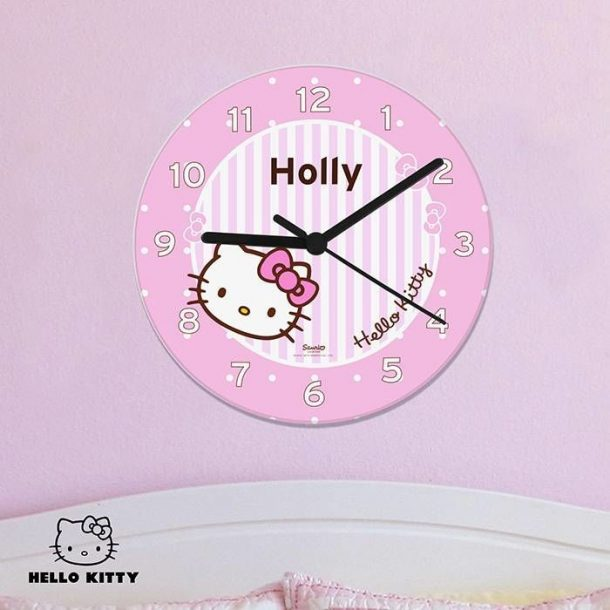 Personalised Hello Kitty Bow Clock