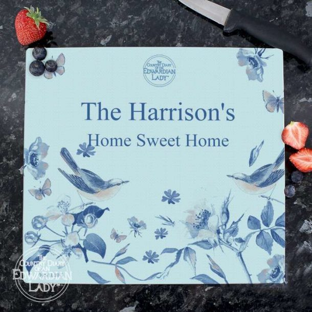 Personalised Blossom Chopping Board