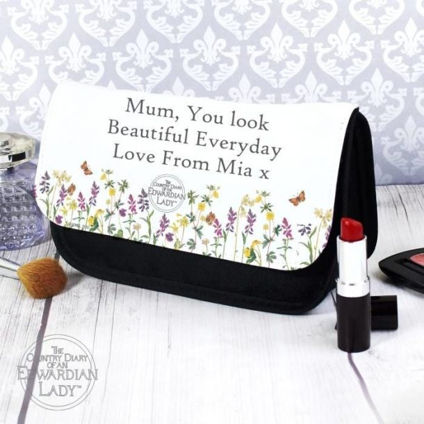 Personalised Flowers Make Up Bag