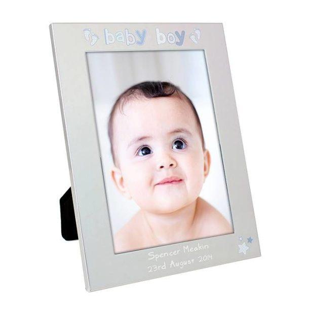 Personalised Baby Boy Frame