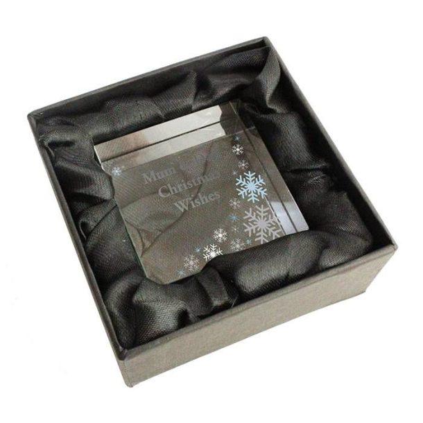 Personalised Snowflake Medium Crystal Token