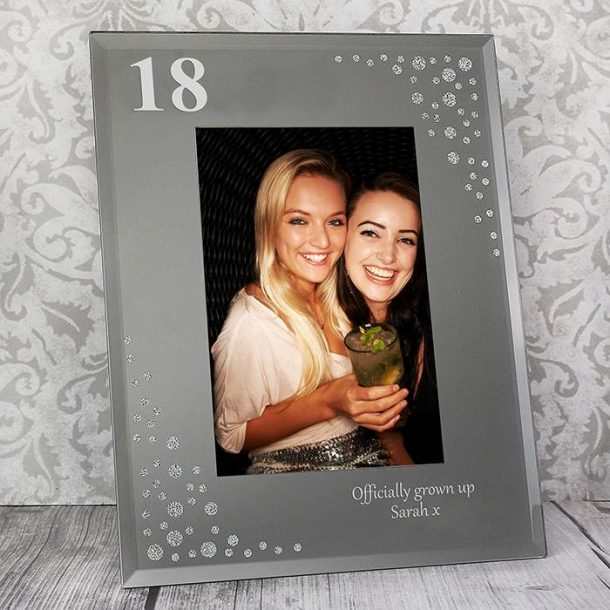 Personalised Big Age Glass Frame