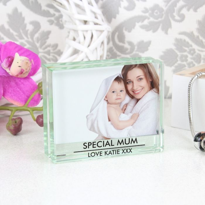 Personalised Crystal Block Photo Frame | Love My Gifts