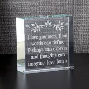 Personalised Sentiments Glass Token