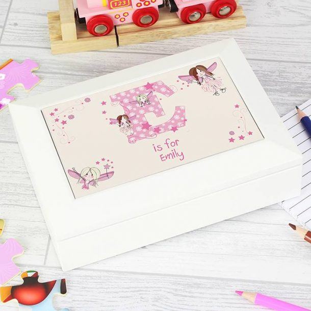 Personalised Fairy Letter Jewellery Box
