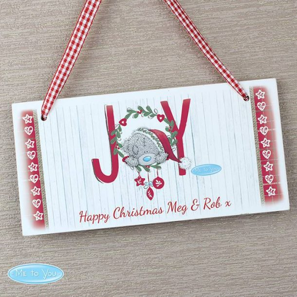 Personalised Me To You JOY Sign