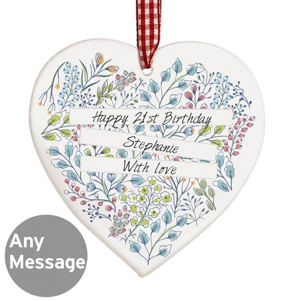 Personalised Wooden Heart Decoration