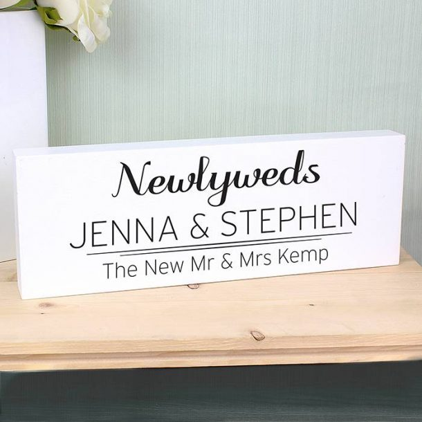 Personalised Bride & Groom Block
