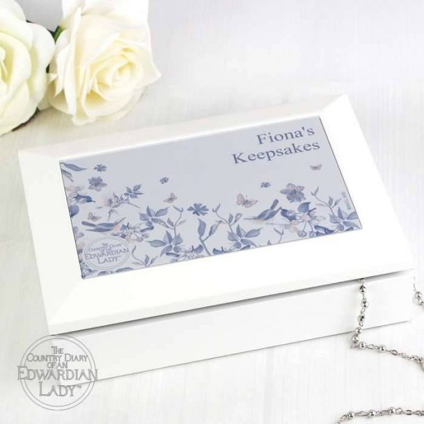 Personalised Country Blossom Jewellery Box