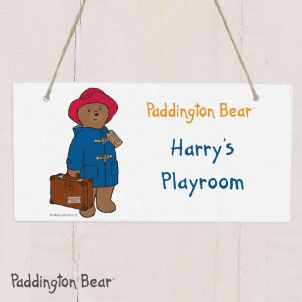 Personalised Paddington Bear Sign