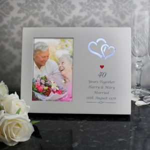 Personalised 40th Anniversary Frame