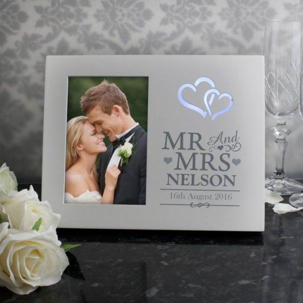 Personalised Light Up Wedding Frame