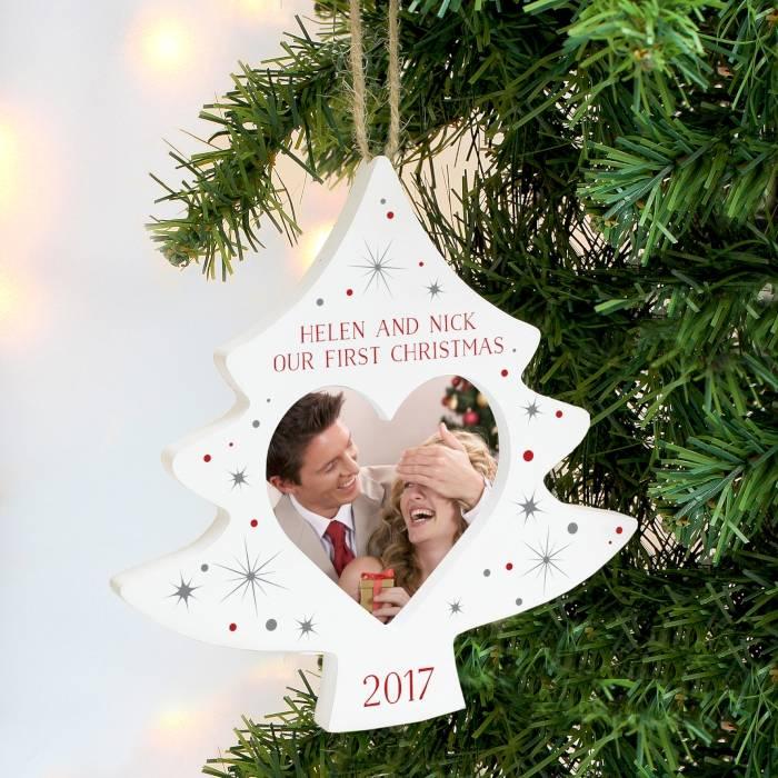 Personalised Christmas Tree Photo Frame Decoration
