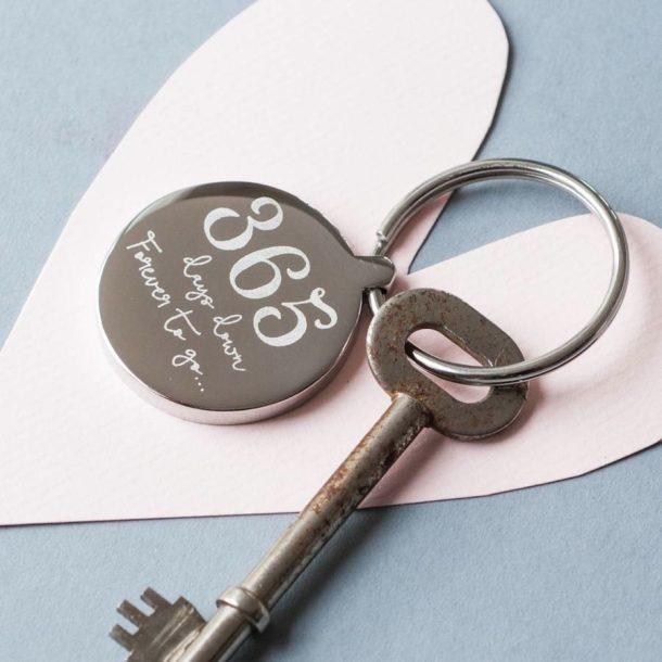Personalised 1st Anniversary Keyring