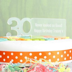 Personalised 30th Birthday Cake Topper