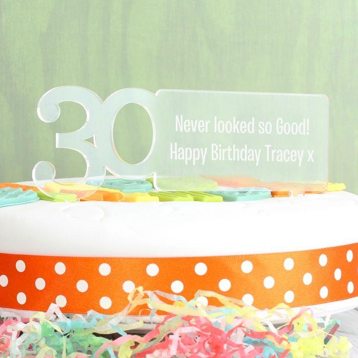Enjoyable Personalised 30Th Birthday Cake Topper Love My Gifts Personalised Birthday Cards Cominlily Jamesorg