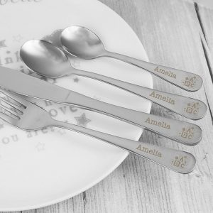 Personalised 4 Piece ABC Cutlery Set