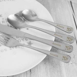 Personalised 4 Piece Fairy Cutlery Set