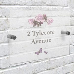 Personalised Acrylic Rose House Sign